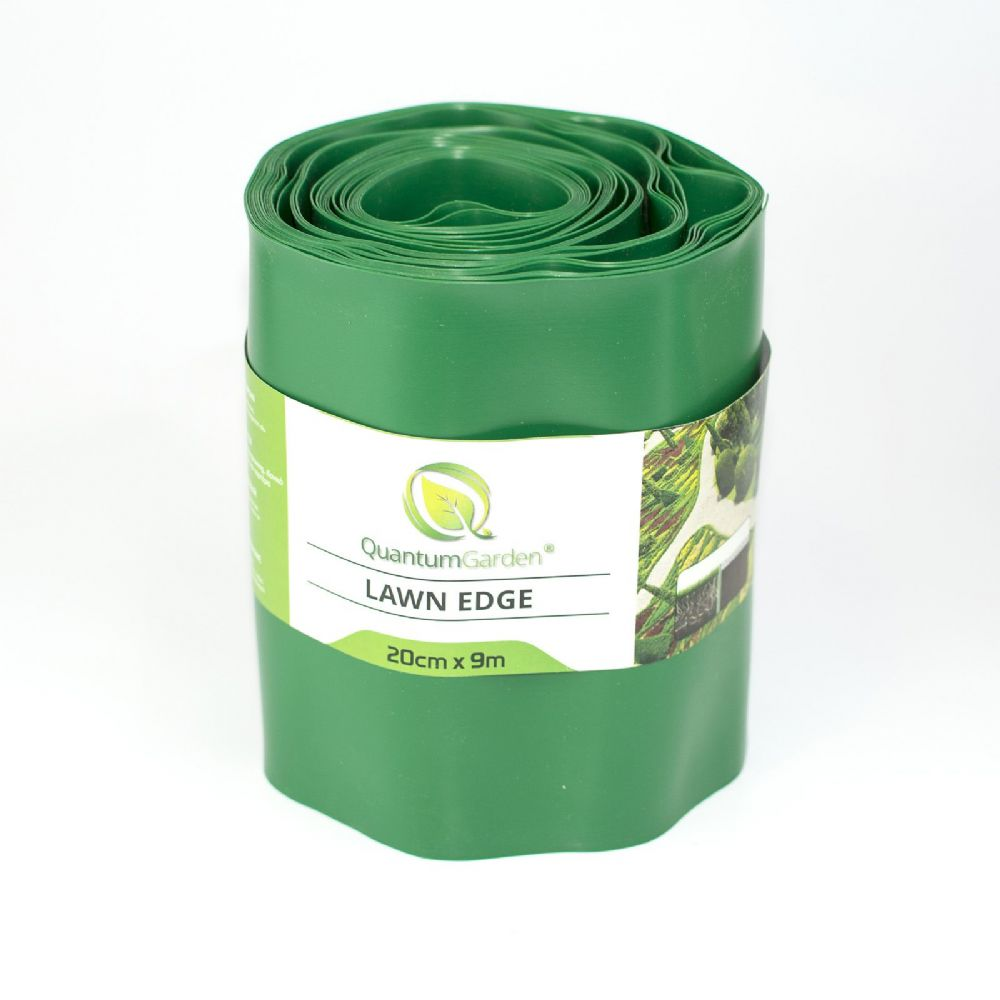 Flexible Plastic Lawn Edge 20cm x 9m in Green Colour